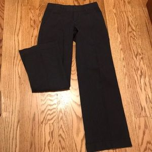 Gap. Navy and cream wide leg trousers. 2 long